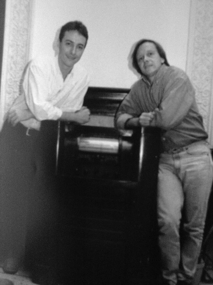 Junto a Pedro Aznar